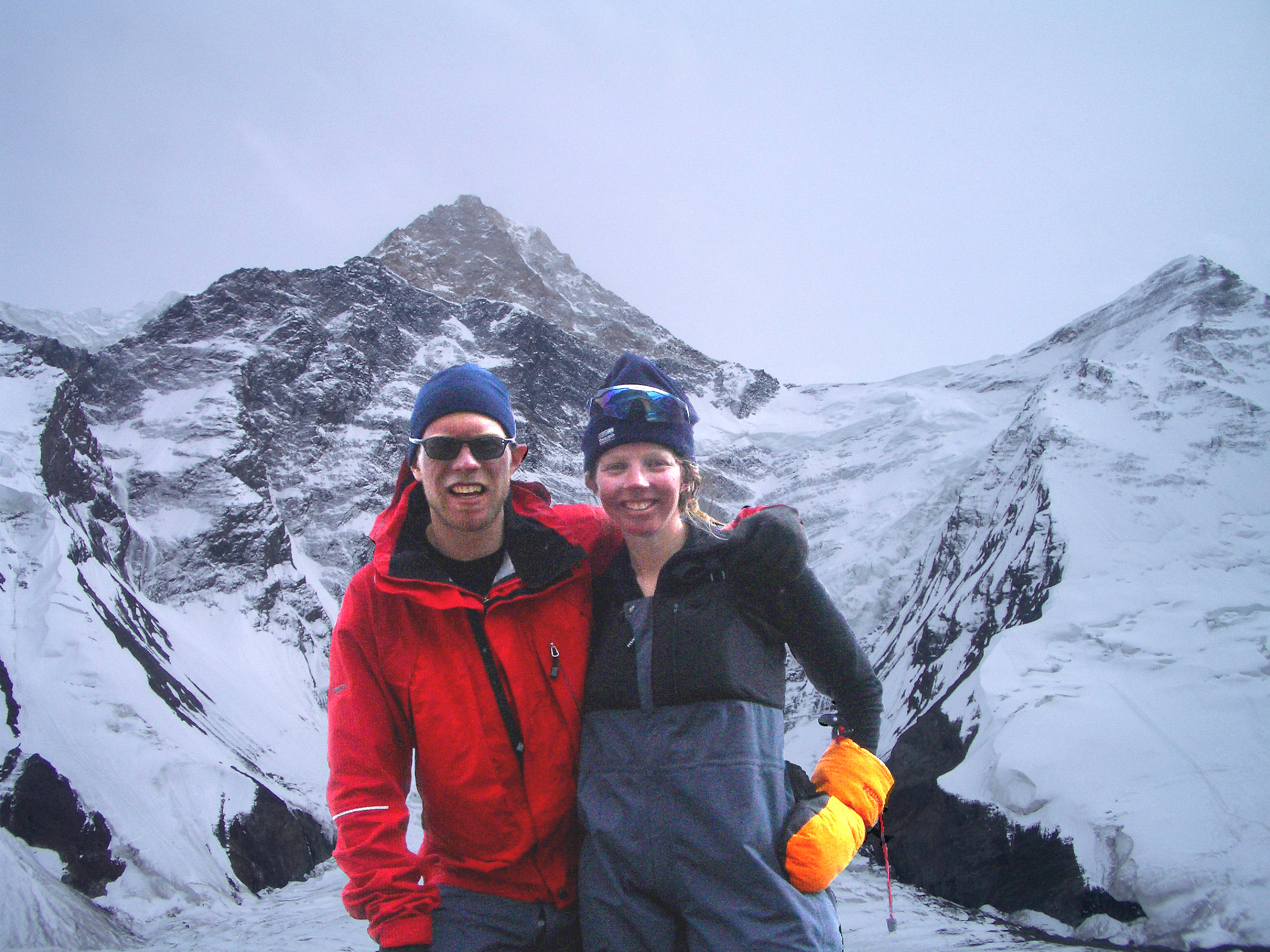 Paul and Fiona - just arrived back at basecamp, Khan Tengri