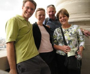 Paul, Fiona, Neil and Margaret in the Pantheon in Paris. Photo Paul Adler