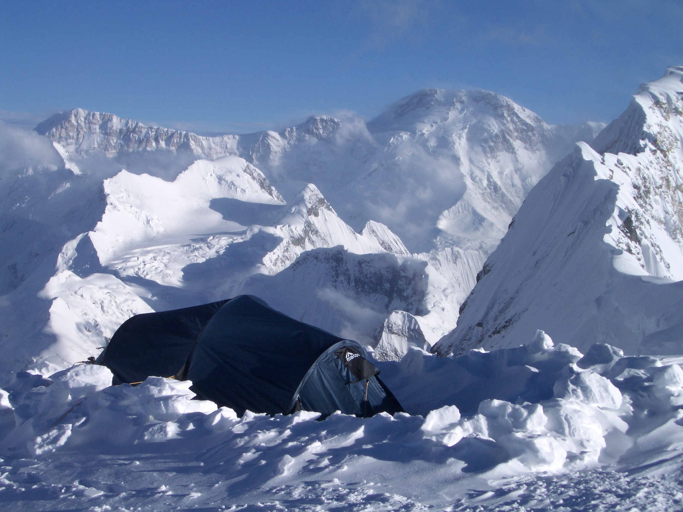 Our tent at camp 3 (Chapayev), Khan Tengri