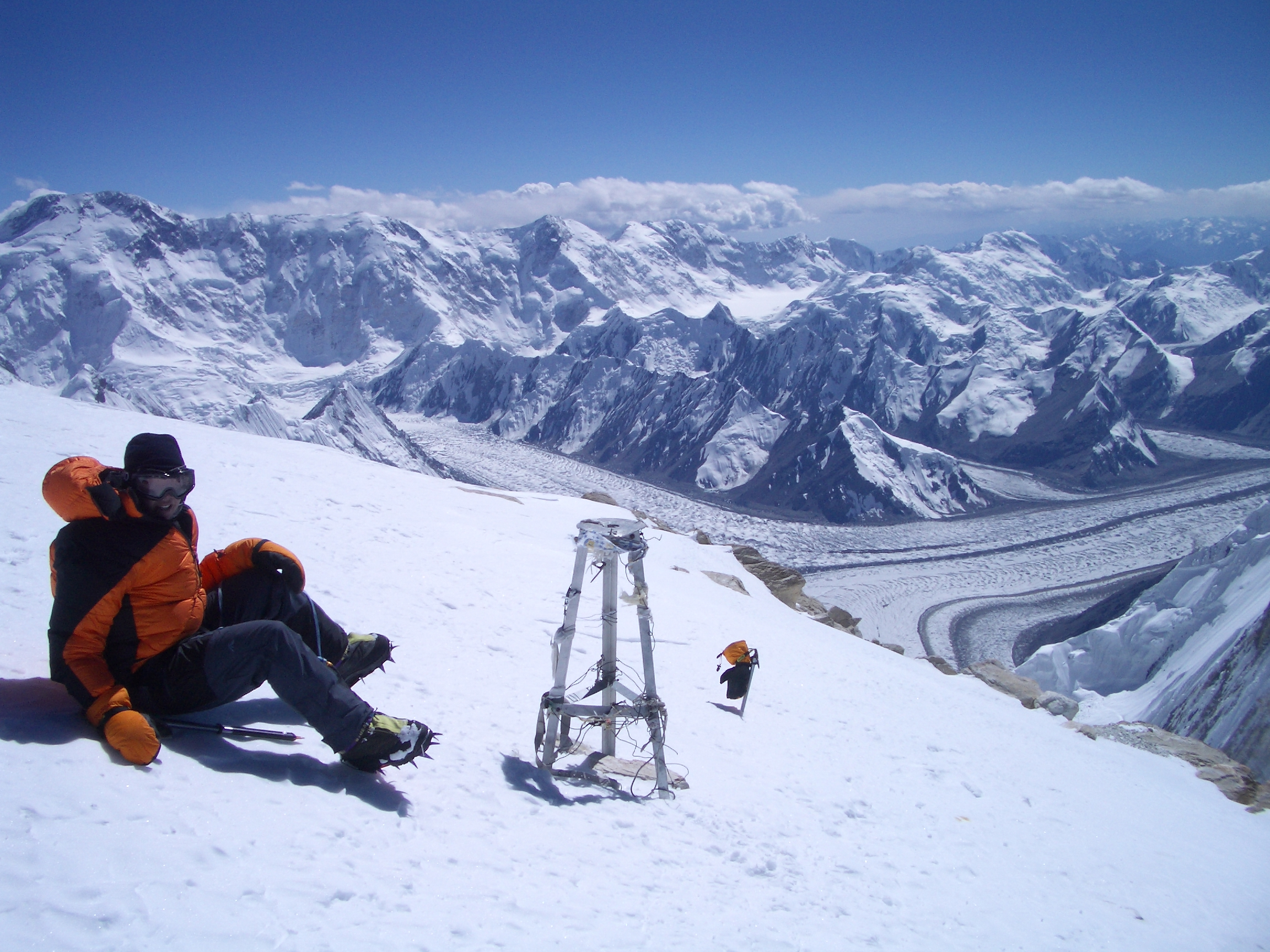 Fiona on the summit of Khan Tengri