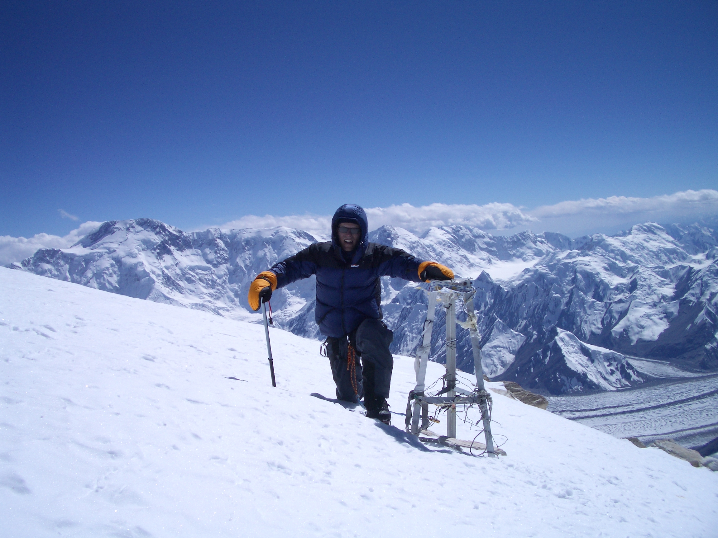Paul on the summit of Khan Tengri