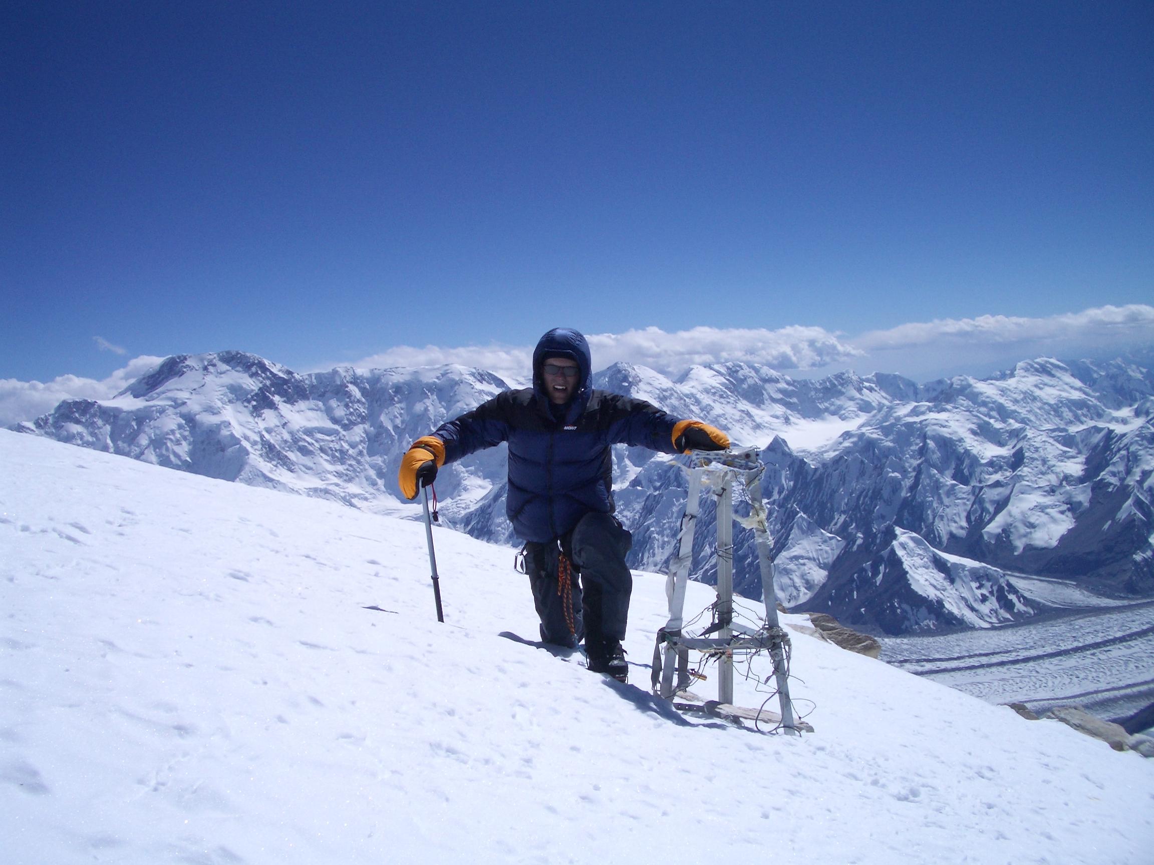 Paul on the summit of Khan Tengri