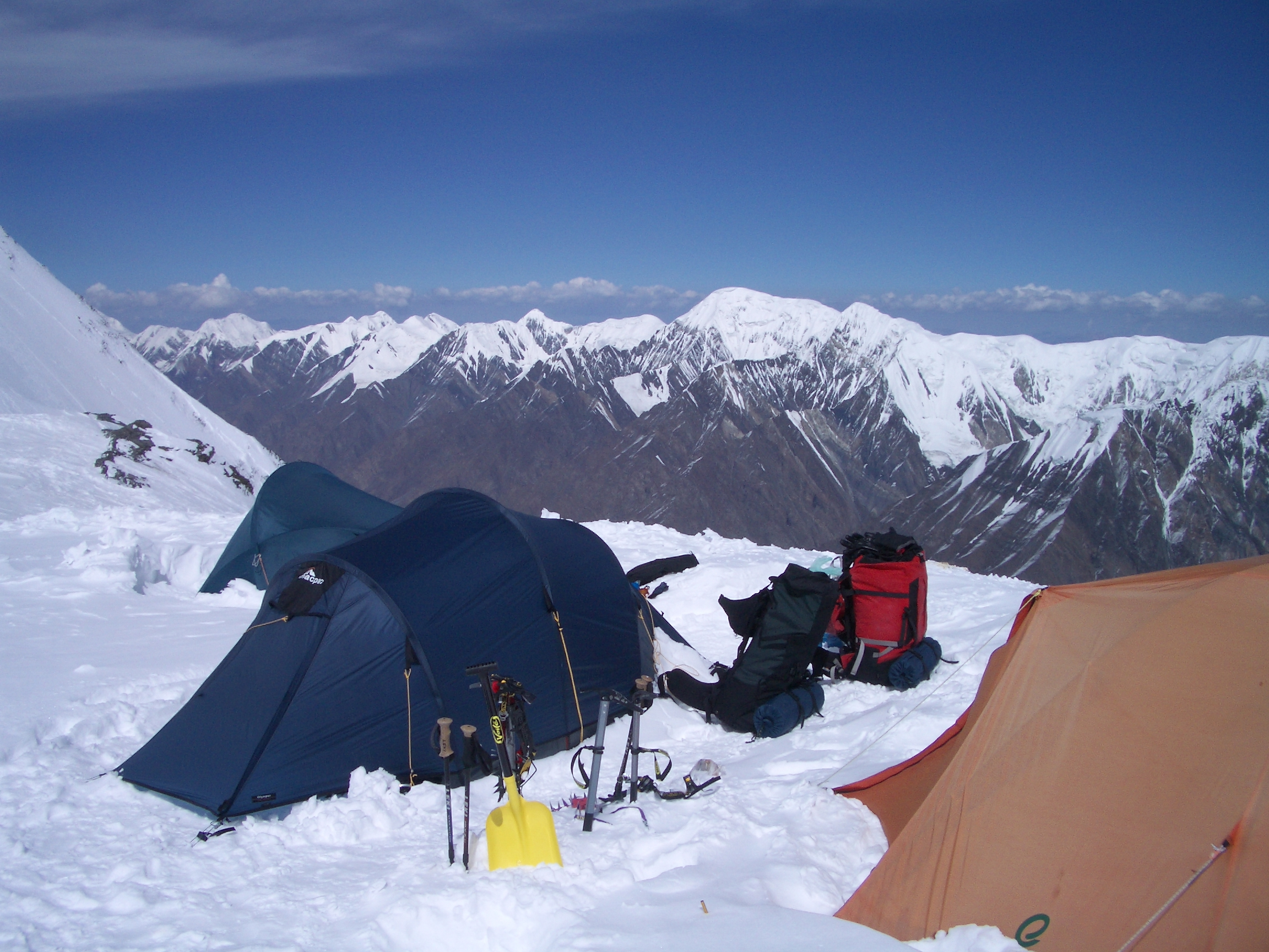 Our tent at Camp 2 on Khan Tengri