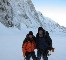 Fiona and Paul climbing Mt Everest
