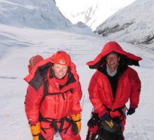 Fiona and Paul in the Western Cwm above camp 2 on Everest