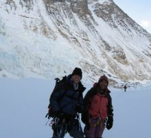 Paul and Fiona near camp 2 on Everest