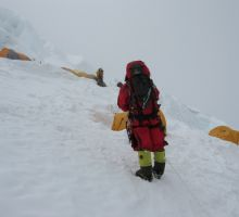 Arriving at camp 3