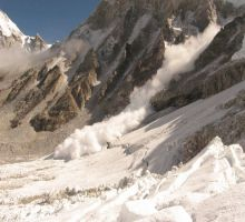 The avalanche we saw as we descended through the icefall for the last time