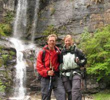 The trek back to Lukla from Everest Basecamp