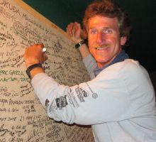 Jim signing