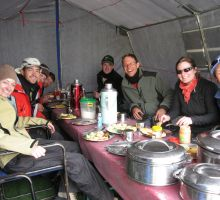 Lunchtime at Everest base camp