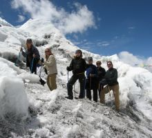Exploring the start of the icefall at Everest basecamp