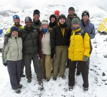 The whole group at Everest basecamp