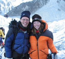 Paul and Fiona at the start of the icefall near Everest basecamp