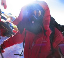 Paul - arrive on the summit of Mount Everest