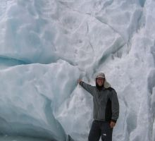 Paul at the start of the icefall
