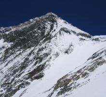 Looking up towards the south summit (taken from between camp 3 and 4)