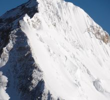 Route from the balcony to the summit of Everest