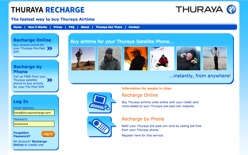 ThurayaRecharge - now satellite phone users can recharge online or by phone